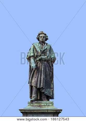 The Beethoven Monument On The Munsterplatz In Bonn