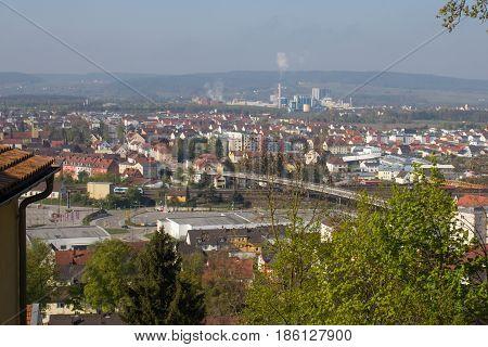 aerial view of Schwandorf taken from the Weinberg Bavaria