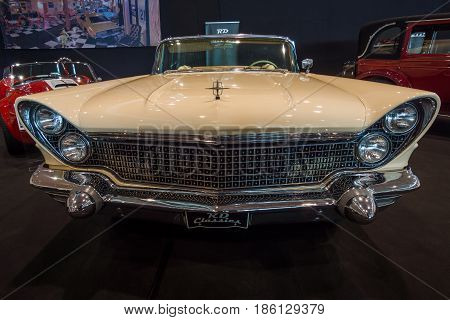 STUTTGART GERMANY - MARCH 02 2017: Personal luxury car Lincoln Continental Mark V convertible 1960. Europe's greatest classic car exhibition