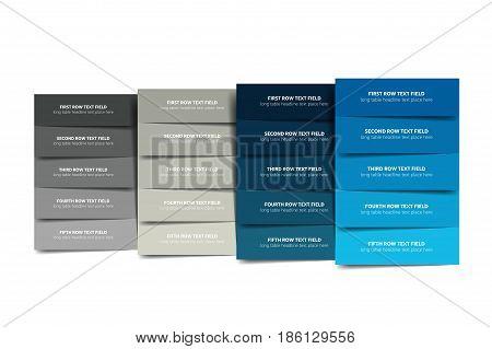 Table, schedule, tab, chart, diagram, scheme. Vector info graphic.