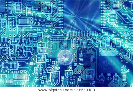 High technology - computer electronics (macro)