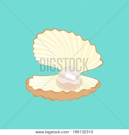 Vector Seashell With A Pearl