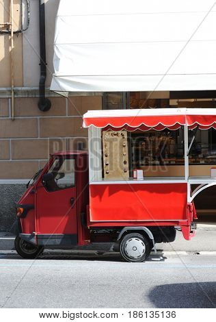 vintage italian food truck