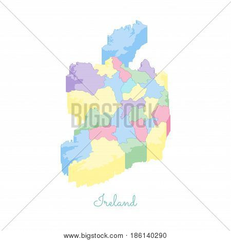 Detailed Map Of Ireland Vector.Ireland Region Map Vector Photo Free Trial Bigstock