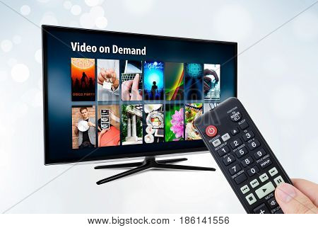 Video on demand VOD application or service on smart TV.