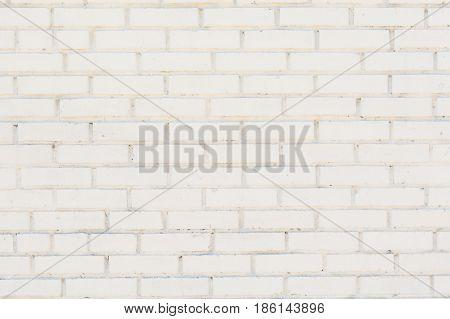 Background of the white brick wall texture with horizontal masonry
