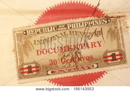 Vintage Documentary Stamp