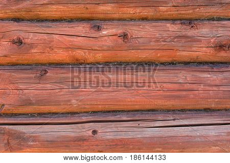 Wooden Logs Wall Background