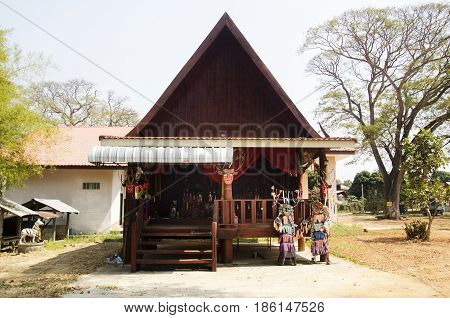 Angel House Or Shrine Of Phi Kon Nam Or Tradition Of Ghost Carriage Water For People Visit And Respe