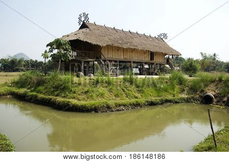 Tai Dam Ethnic Museum House For Thai People And Foreigner Traveler Visit And Learning Culture Tai Da