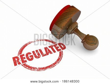 Regulated Stamp Rules Laws Regulations 3d Illustration