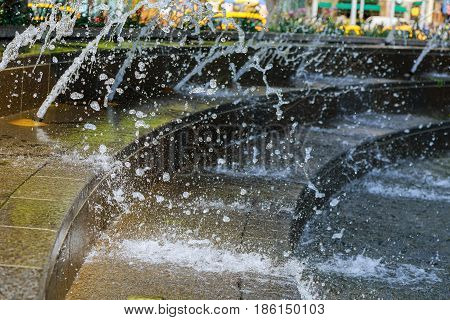 Water fountain Splash of water fountain abstract nature image stop drop stream