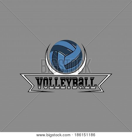 Volleyball logo for the team and the cup. vector illustration