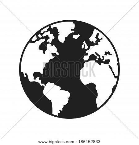 world map earth globes cartography continents vector illustration