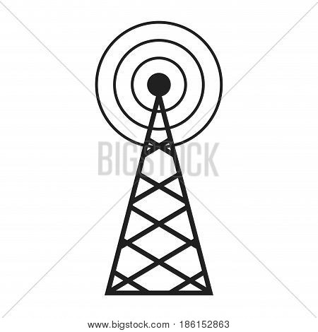 radio, antenna sending signal icon. wireless technology. vector illustration.