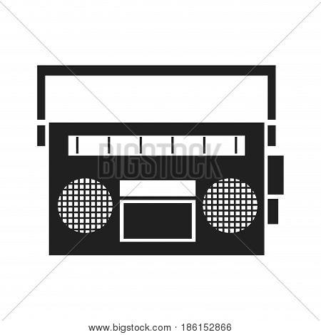 vintage stereo radio music image vector illustration