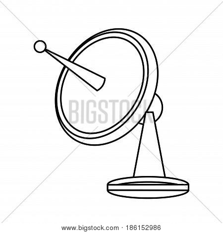 satellite dish communication technology network vector illustration