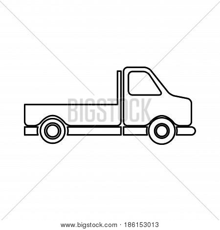 pick-up truck classic truck cargo transport line vector illustration