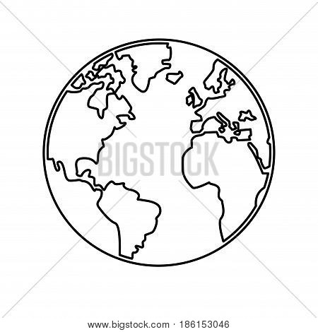 world map earth globes cartography continents outline vector illustration