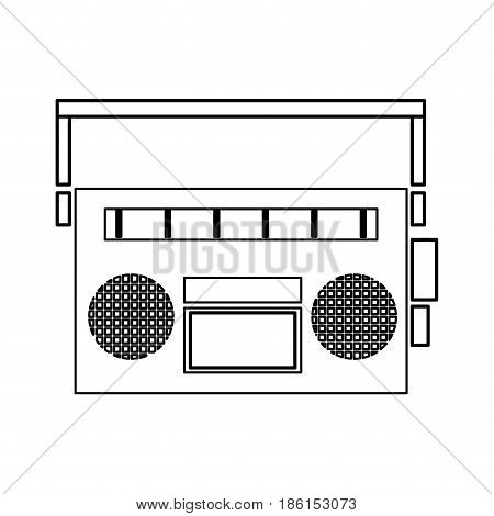 vintage stereo radio music audio vector illustration