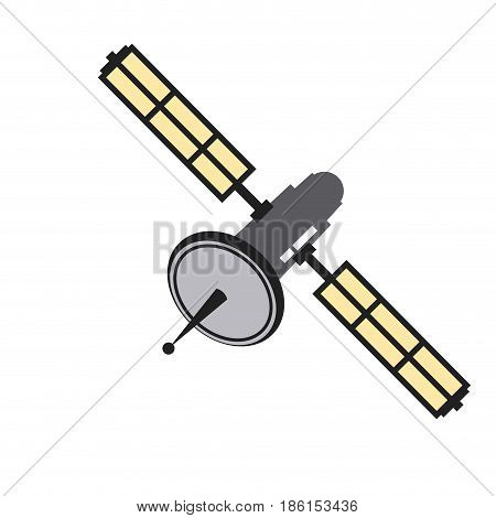 satellite communication connection wave global icon vector illustration