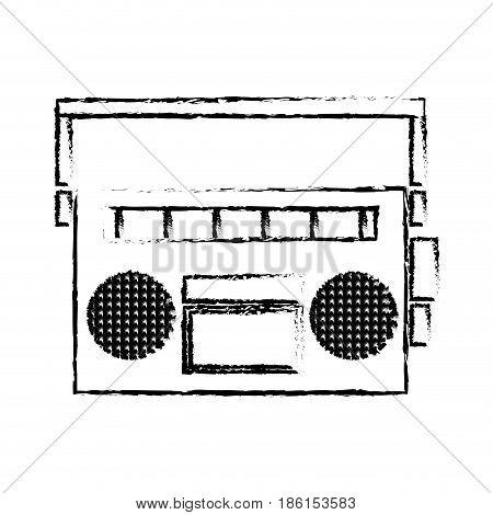 vintage stereo radio music audio vector illustration