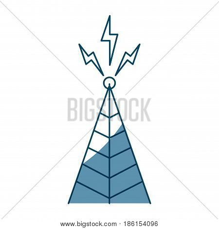 telecommunications signal transmitter. icon of tower broadcasting vector illustration