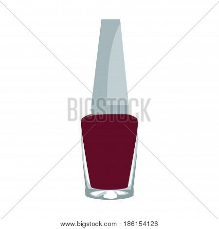 Red nail polish isolated on white background vector illustration