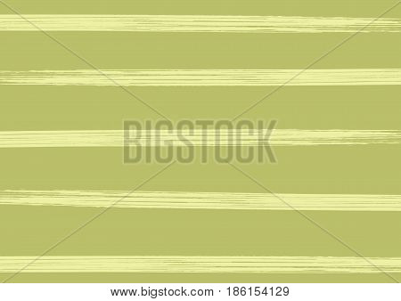 Rectangular striped background. Horizontal lines drawn with a rough brush. Grunge. Green beige. Vector illustration.