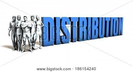 Distribution Business Concept as a Presentation Background 3D Illustration Render