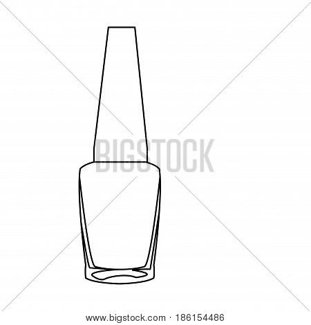 outline nail polish bottle cosmetic image vector illustration