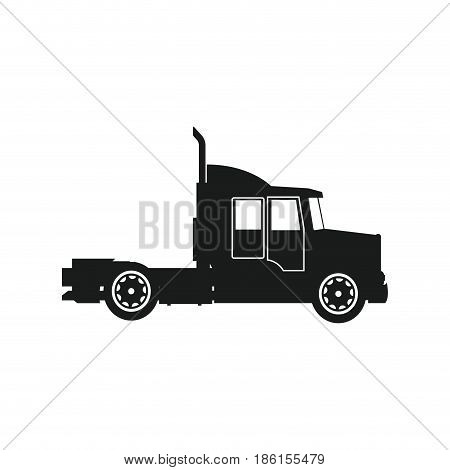 semi trailer truck transportation isolated on white background. vector illustration