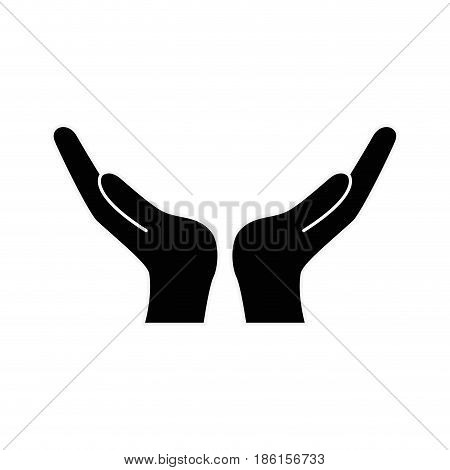 Hands with palms open icon vector illustration graphic design