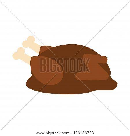 roasted chicken icon image vector illustration design