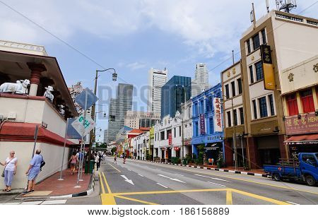 Street In Little India, Singapore
