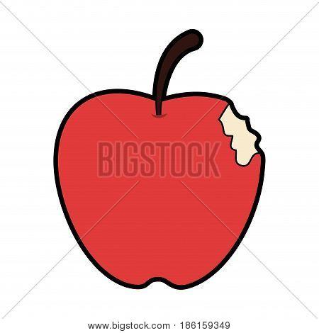 bitten apple fruit icon image vector illustration design