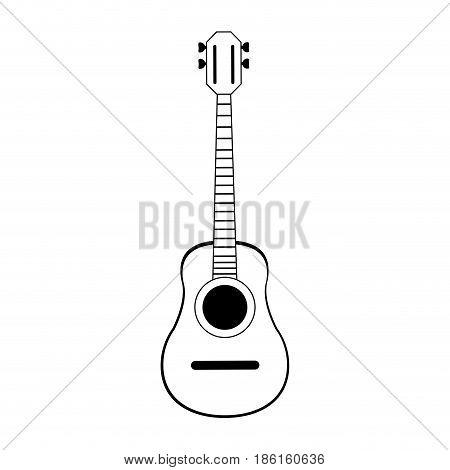 acoustic guitar icon image vector illustration design