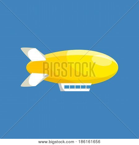 Air vehicles. Modern airship balloon aerostat transport. Modern vector illustration isolated on white background.