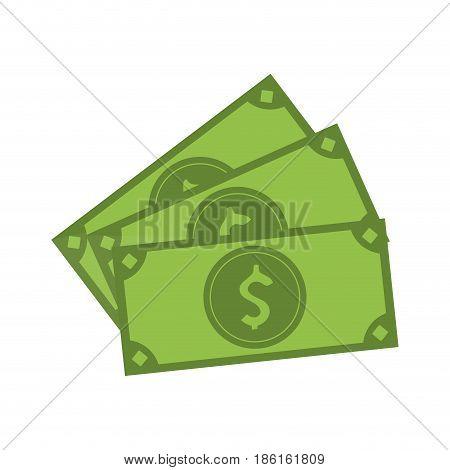 cash money bills icon image vector illustration design