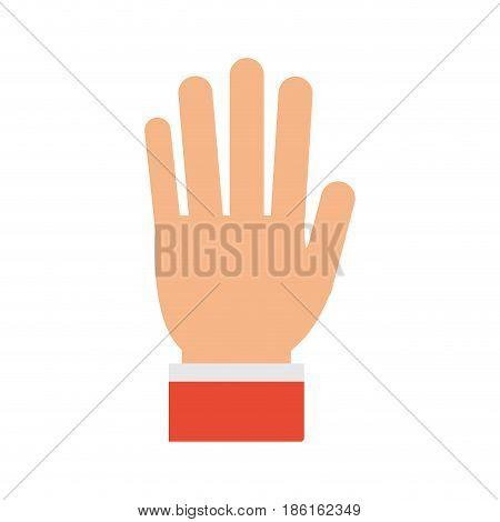 open hand gesture icon image vector illustration design