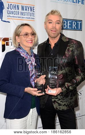 LOS ANGELES - MAY 10:  Sharon Stone, Chaz Dean at the ABC Mothers Day Luncheon on the Four Seasons Hotel on May 10, 2017 in Beverly Hills, CA