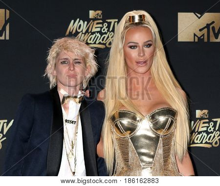LOS ANGELES - MAY 7:  Nats Getty, Gigi Gorgeous at the MTV Movie and Television Awards on the Shrine Auditorium on May 7, 2017 in Los Angeles, CA