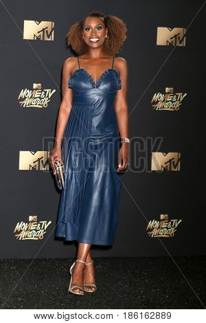 LOS ANGELES - MAY 7:  Issa Rae at the MTV Movie and Television Awards on the Shrine Auditorium on May 7, 2017 in Los Angeles, CA
