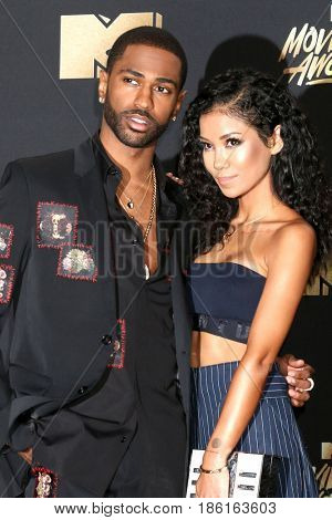LOS ANGELES - MAY 7:  Big Sean, Jhene Aiko at the MTV Movie and Television Awards on the Shrine Auditorium on May 7, 2017 in Los Angeles, CA