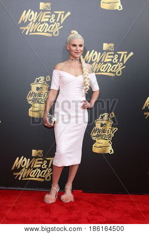 LOS ANGELES - MAY 7:  Carly Aquilin at the MTV Movie and Television Awards on the Shrine Auditorium on May 7, 2017 in Los Angeles, CA