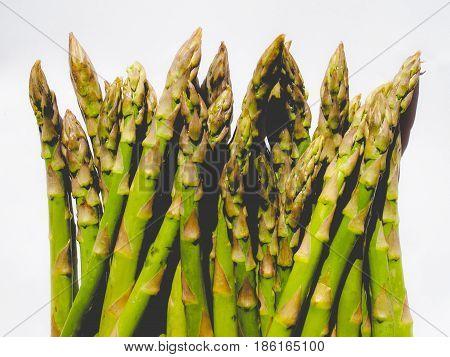 Green Asparagus Vegetables, Faded Vintage Look