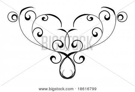 Black design element isolated on white