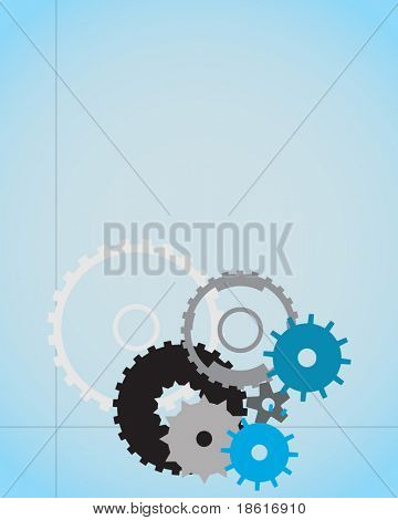 Concept wheels background