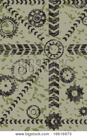 Abstract military gears background