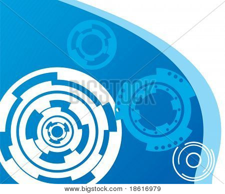 Blue mechanical industrial background